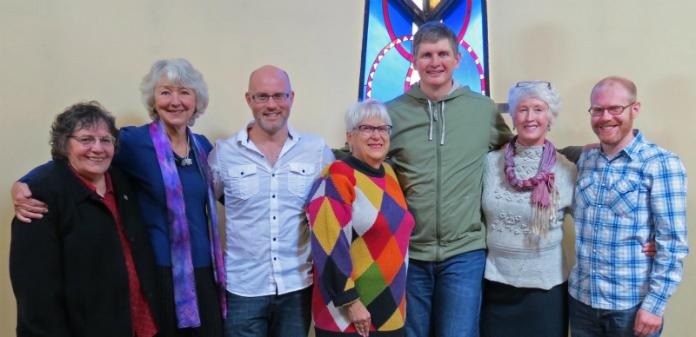 From left: Barb Richards, Sharon Belew, Jason English, Jenny Fitt-Peaster, Jim Rowe (chair), Diana Maiden, Ted Burnham